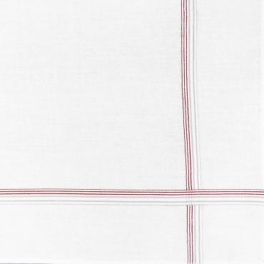 Variante rossa - Cervinia - fazzoletto di cotone da uomo con righe fini in due colori
