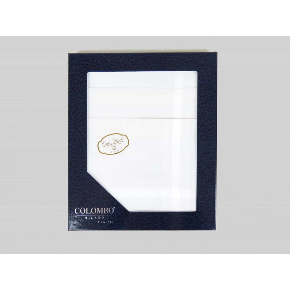 Oxford des. 2 - dozen white men's handkerchiefs with satin stripes box