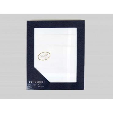 Oxford dozzina - fazzoletto di cotone bianco da uomo con incrocio di righe di raso e Orlo Roulè