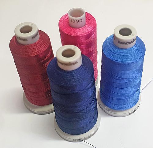 Colore ricamo fazzoletto di stoffa
