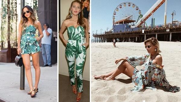 celebrities e look tropicale