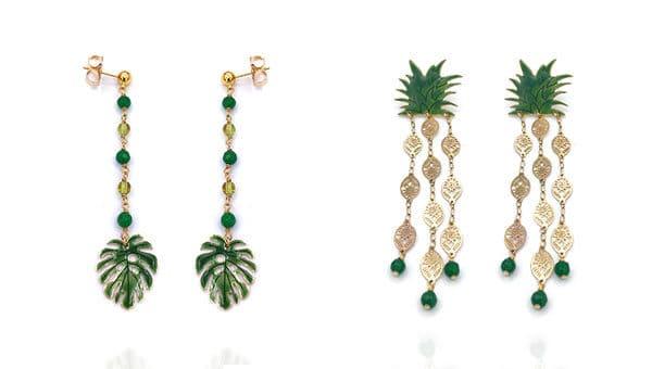 orecchini dal look tropicale