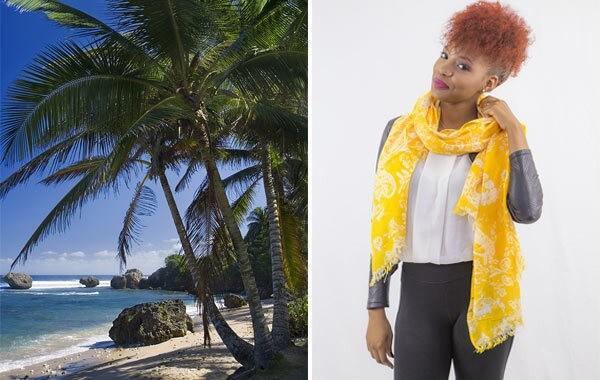 la tendenza di vestire uno stile tropicale