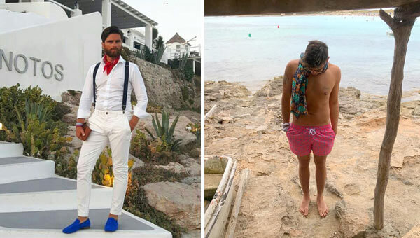 Il foulard da uomo per le vacanze