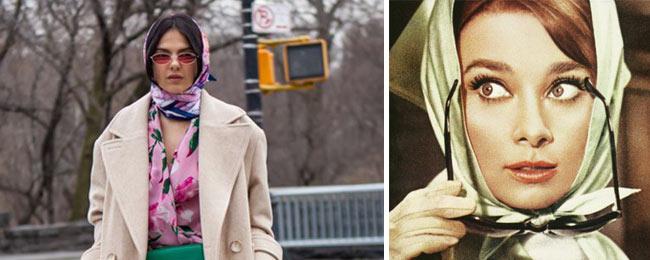 Come annodare il foulard a mo' di Babushka? e come indossarlo?