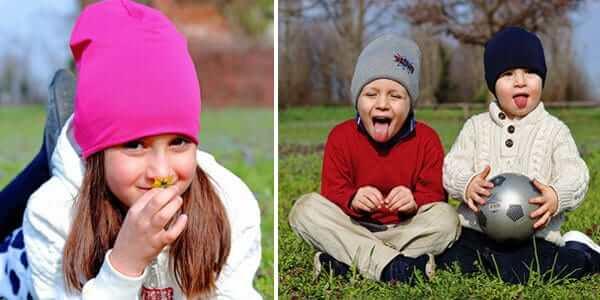 cappellini per bambini e primi freddi