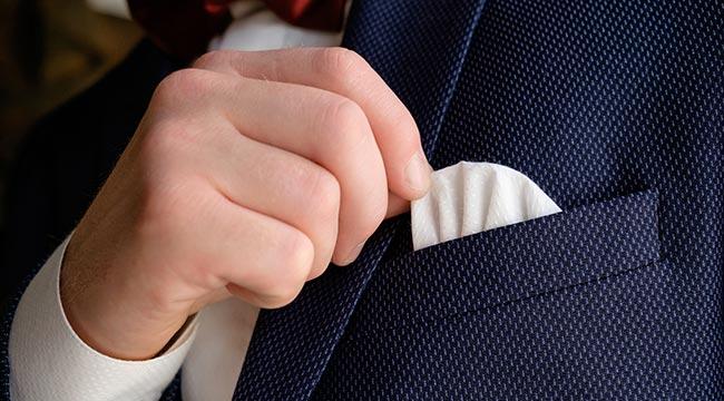 fazzoletto pochette per matrimonio