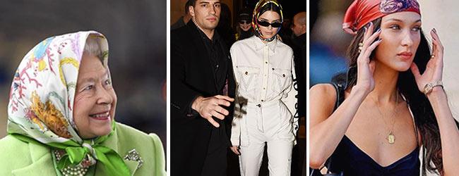 Come portano il foulard le celebrità