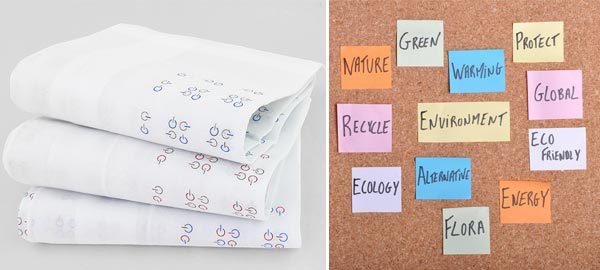 Usa prodotti riutilizzabili come i fazzoletti di stoffa