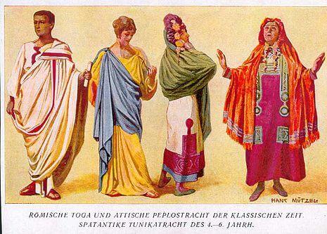 La mantella all'epoca dei romani
