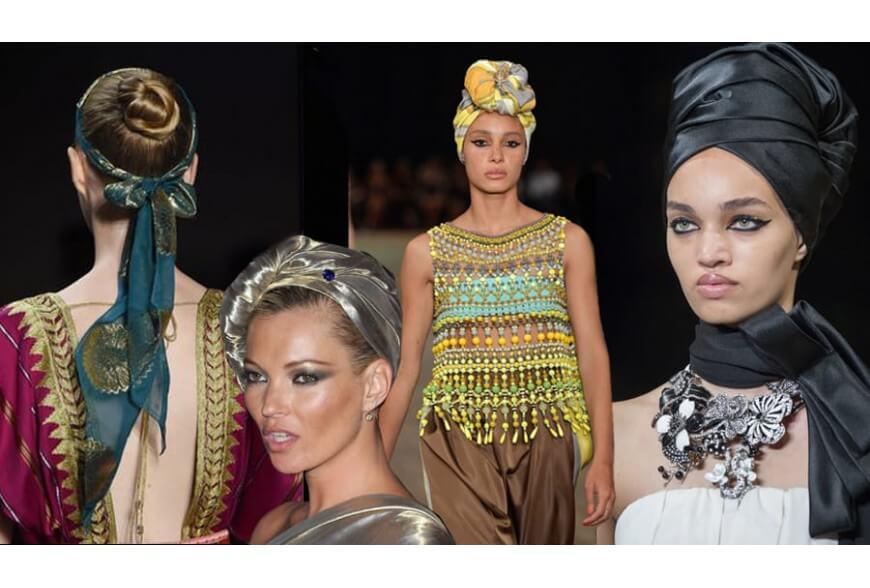 Il foulard in versione turbante: l'accessorio must have del 2018!