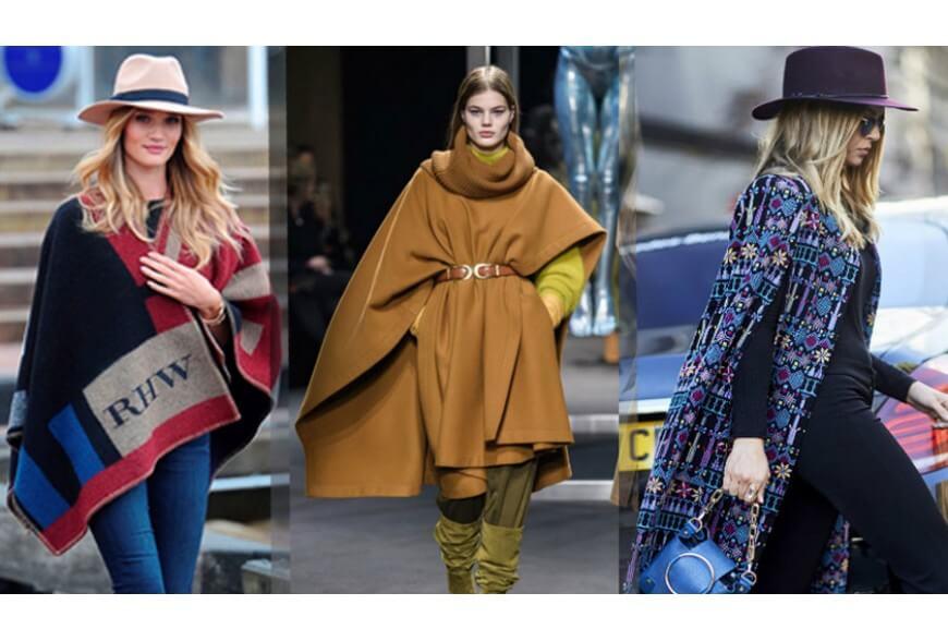 La mantella o poncho accessorio must have per l'inverno